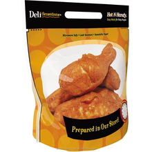 Moistureproof stand up vacuum plastic frozen chicken bags/hot roast chicken bags/chicken nuggets bags with handle 500g 1KG