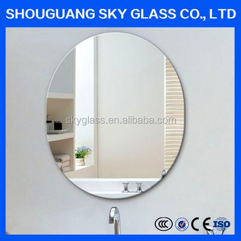 3mm-6mm Plain Decorative Mirror Glass With Polished Edging