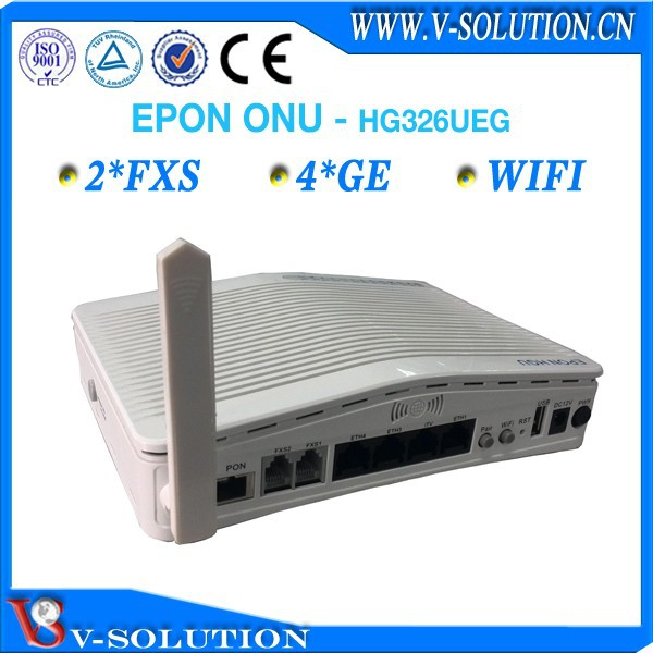 Ftth epon 2fxs 4ge wifi onu network wireless router