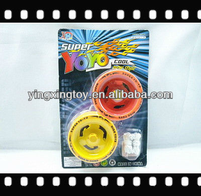 Lacquered bright colours metal yoyo ball toys