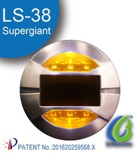 High visibility colorful Aluminum Intelligent led solar road stud road reflectors/traffic reflectors(LS-38)