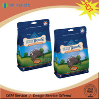 Moisture proof resealable stand up dog food packaging bag