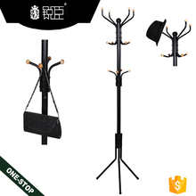 Metal Coat Rack Free Standing Hat Rack Purse Display Stand Hall Tree 12 Hooks