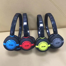 X6 headphone sports explosion-proof wireless heavy bass stereo head wearing 2017 cheap BT 4.0 with 3.5mm Bluetooth headset