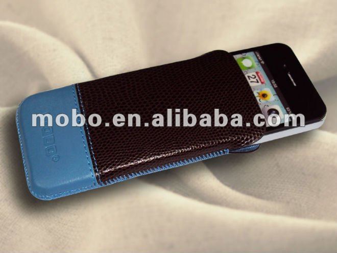 Case for iPhone 4 / 4S, Pouch for iPhone 4 / 4S, leather case for iPhone 4