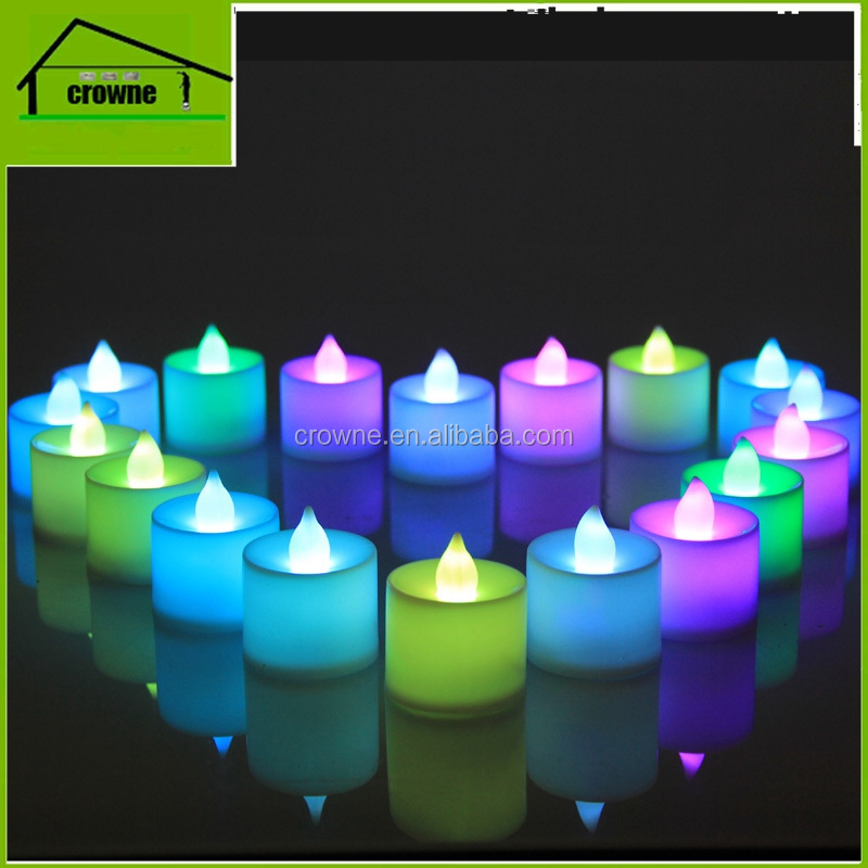 Fashion Wireless plastic colourful magic led candle with remote control for Party festival for wedding birthday