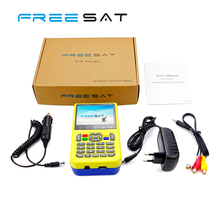 3.5inch Handheld Freesat V8 DVB-S/S2 1080 HD Digital Satellite Finder Meter 3000mA Lithium Battery