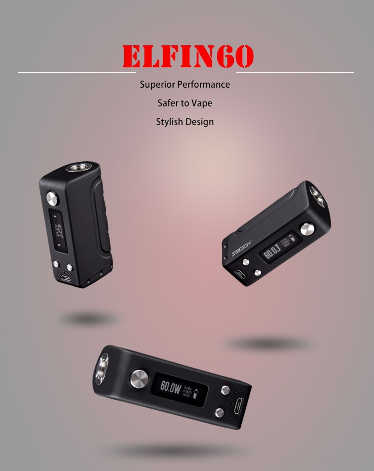 Factory cheap price 60W sbody Elfin subox mini e cigarette accept paypal