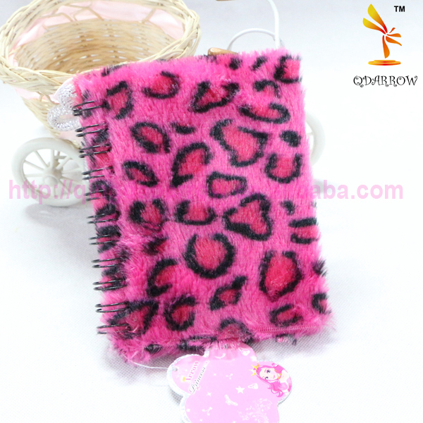 Plush Fur Cover Diary Notebook