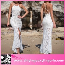 White Fallen Angel maxi long lace cheap evening dress elie saab dresses for sale