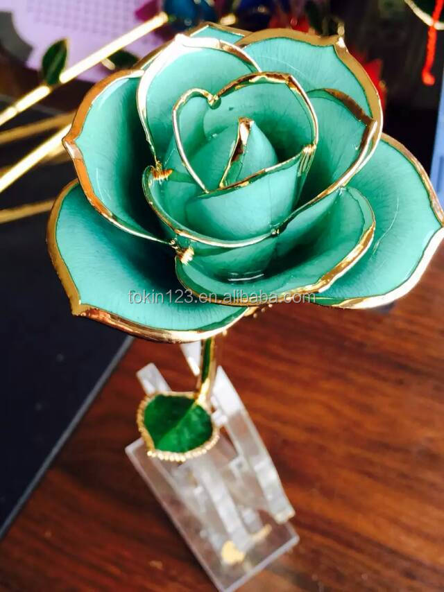 Best VALENTINE'S DAY gift decoration 24K GOLDEN ROSE flower