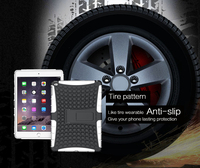 Wholesale price shockproof anti-slip tire pattern TPU+PC material cover for ipad mini 4 case