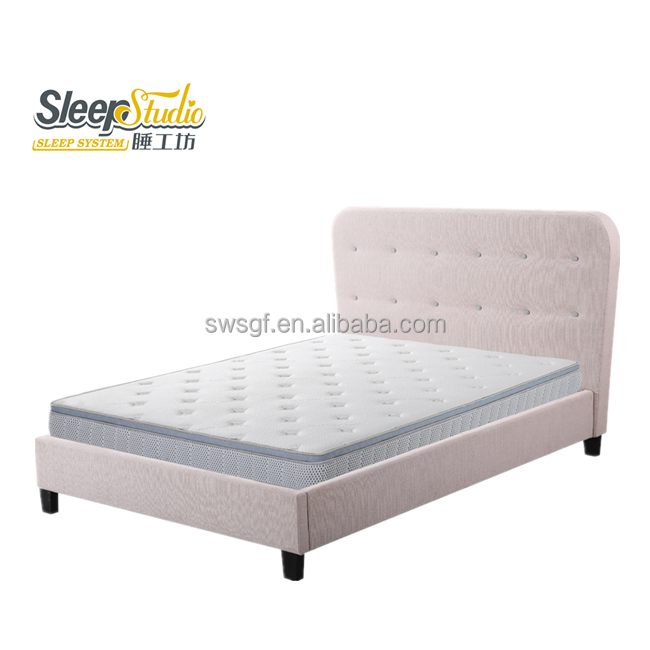 hot sales plywood double bed designs upholstery bed in queen