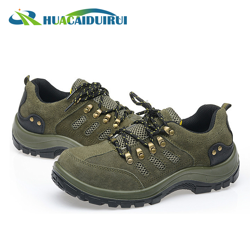 High quality steel toe anti smash deltaplus safety shoes/footwear