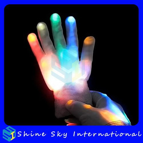 Bottom Price Top Sell Wholesale Clothing Led Flashing Gloves