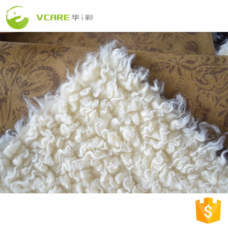 High Quality New Style suede bonded faux lamb fur fabric for shoes coats