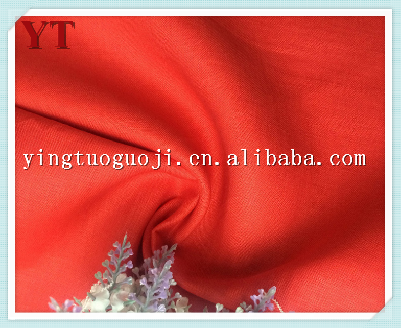 eco-friendly weaving plain dyed 100% bulk flax table cloth linenfabric