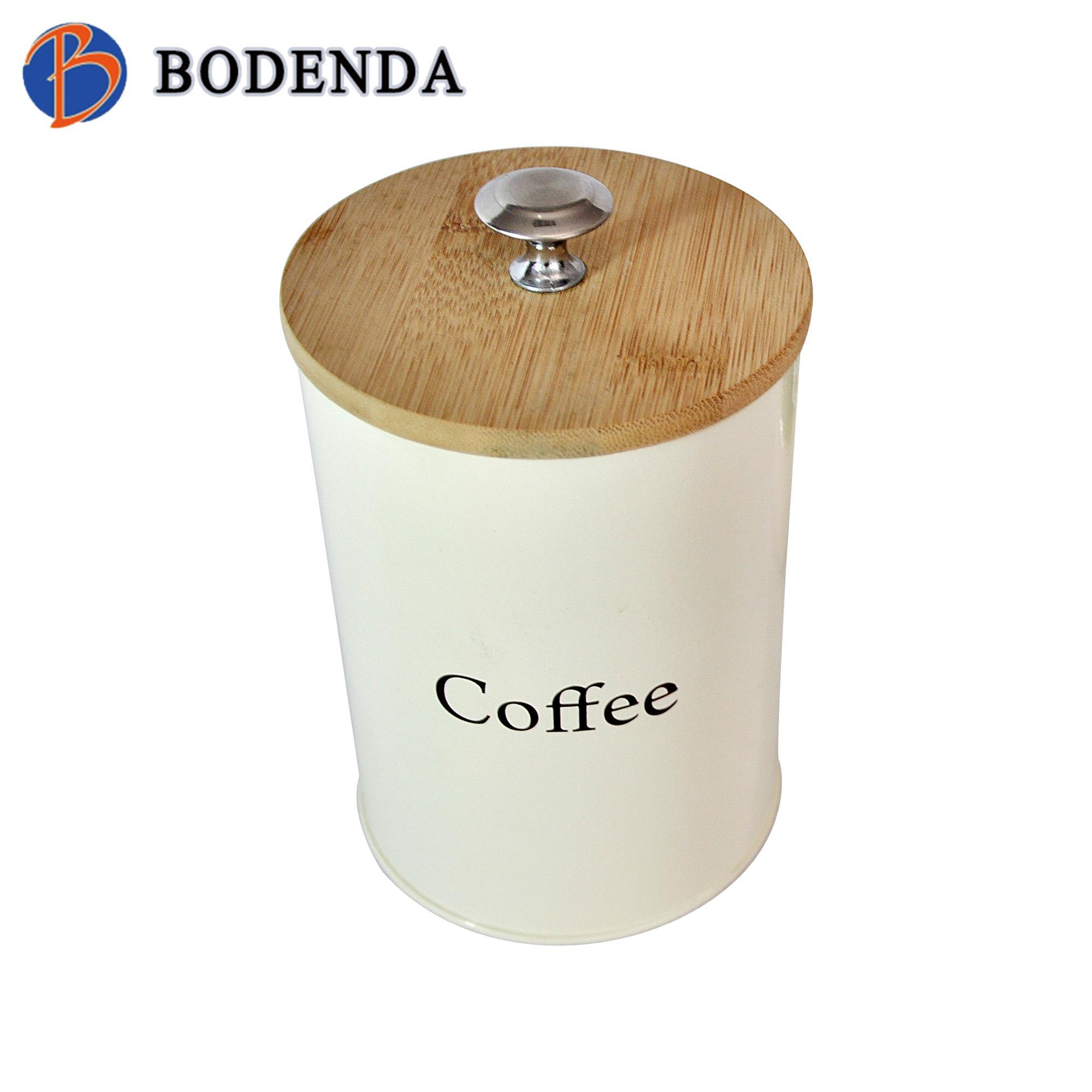 Good supplier fancy storage round metal coffee tin