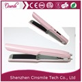 hair salon equipment white pink tourmaline factory price mini rechargeable cordless hair straightener
