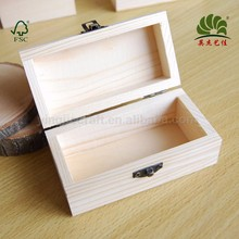 Unfinished hand craft gift wholesale home decoration pine wood packing boxes
