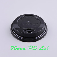 PS coffee cup lid ,black and white color 90mm lid for cups