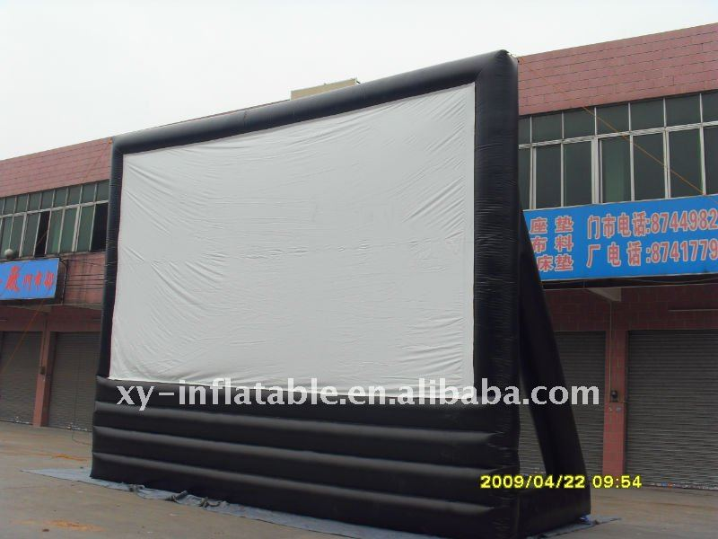 Inflatable movie screen, inflatable rear projection screen, outdoor inflatable screen