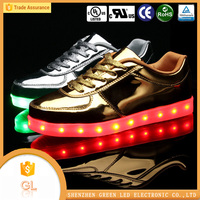 Fashion luminous footwear mens dress shoes led manufacturer cheap price