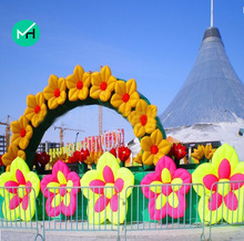 High Quality Best PVC giant cheap wedding inflatable flower arch for sale