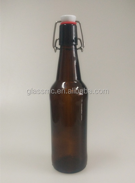 High Quality 500ml 330ml swing top amber/brown beer glass bottle flip top amber beer glass