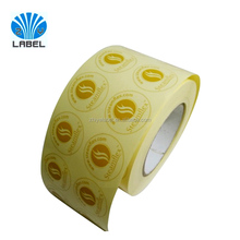 Gold color with full color printing label stickers round Clear labels