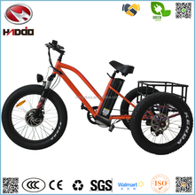 Hot sale 500w fat tire beach style electric tricycle for rental shop