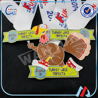 turkey legs trifecta duck toy custom medal
