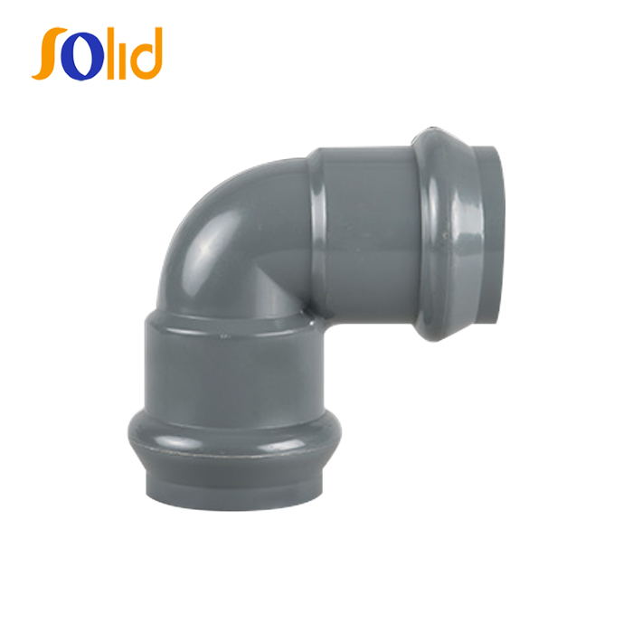 PVC Elbow 90 Deg With Rubber Ring Joint RR FF , Flexible Joint Using For Irrigation
