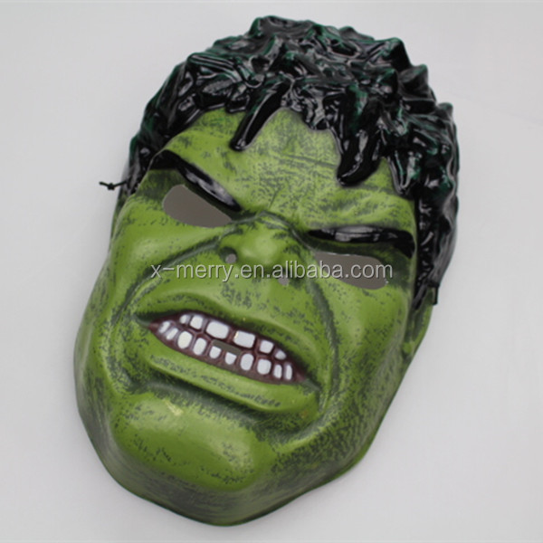 X-MERRY Halloween Super Hero The Green Giant Avenger MASK Party Costume Cosplay Child Kid Toy