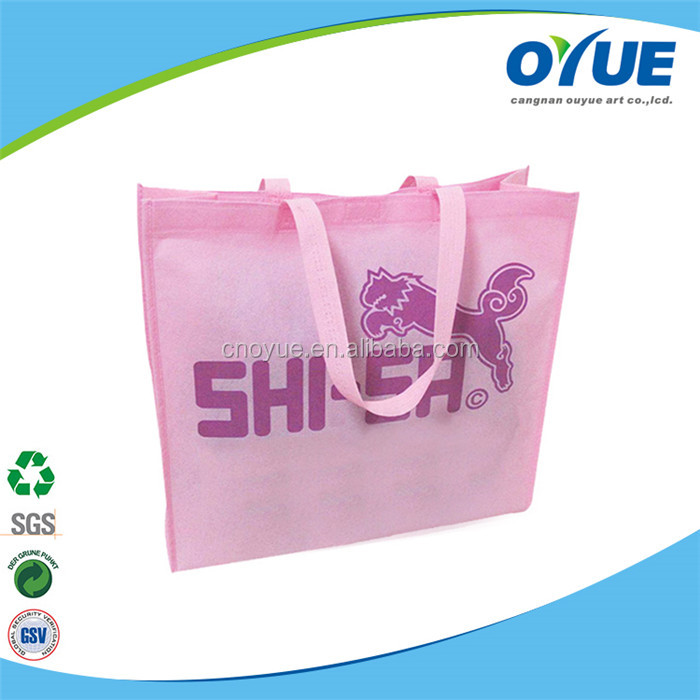 Full Printing Lovely recyclable non woven eco tote bag bag