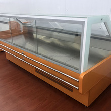 Supermarket cooked meat food refrigerator showcase