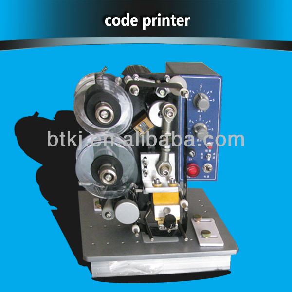 Emboss date and black date with printing ribbon Easy to use code machine make three lines hot stamp coding machine code printer