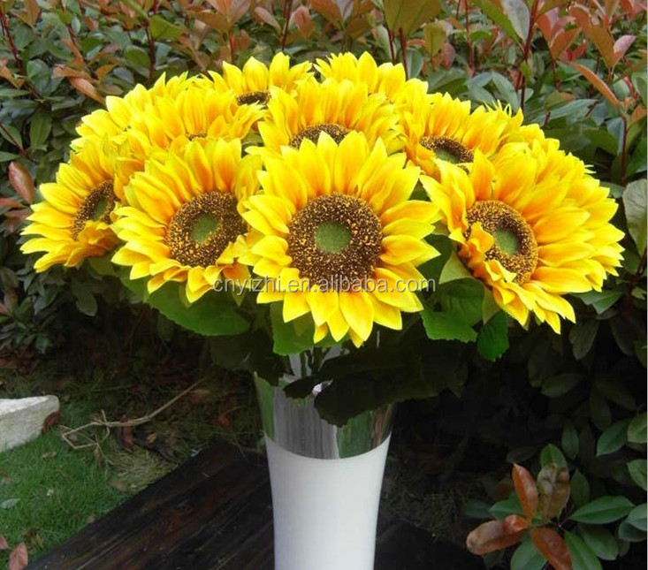 Artificial sunflowers wholesale yellow artificial flower high artificial sunflowers wholesale yellow artificial flower high quality fake sunflowers market price mightylinksfo Gallery