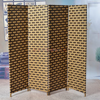 Quality design office used room partition easy to assemble movable Paper Rope Bamboo Screens Room Divider Room Partition GVSD007