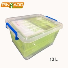 13L A4 Paper Office File Plastic Storage Box Plastic Container with Lid