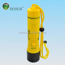 800 Lumens Stepless Dimming Yellow Body LED Diving Flashlight