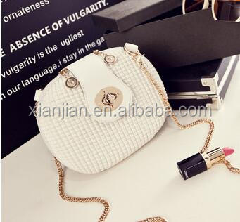Sweet Round Lock Chain Shoulder Bag Crossbody Bag | Manis Putaran Lock Rantai Shoulder Bag Crossbody Tas