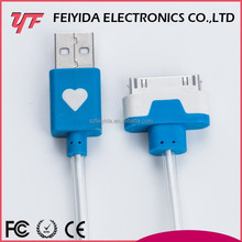 USB Data 1M fashion female headphone jack usb splitter cable for iphone 5