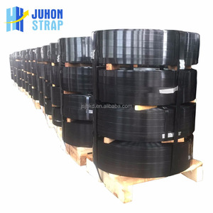Black painted steel strapping/ metal banding tape for packing application