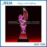 Fashional Ice Sculptures Decoration Led Light Base With Rechargeable Lithium Battery