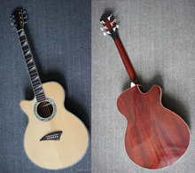Weifang Rebon Left Hand Abalone Binding All Solid wood Acoustic Guitar