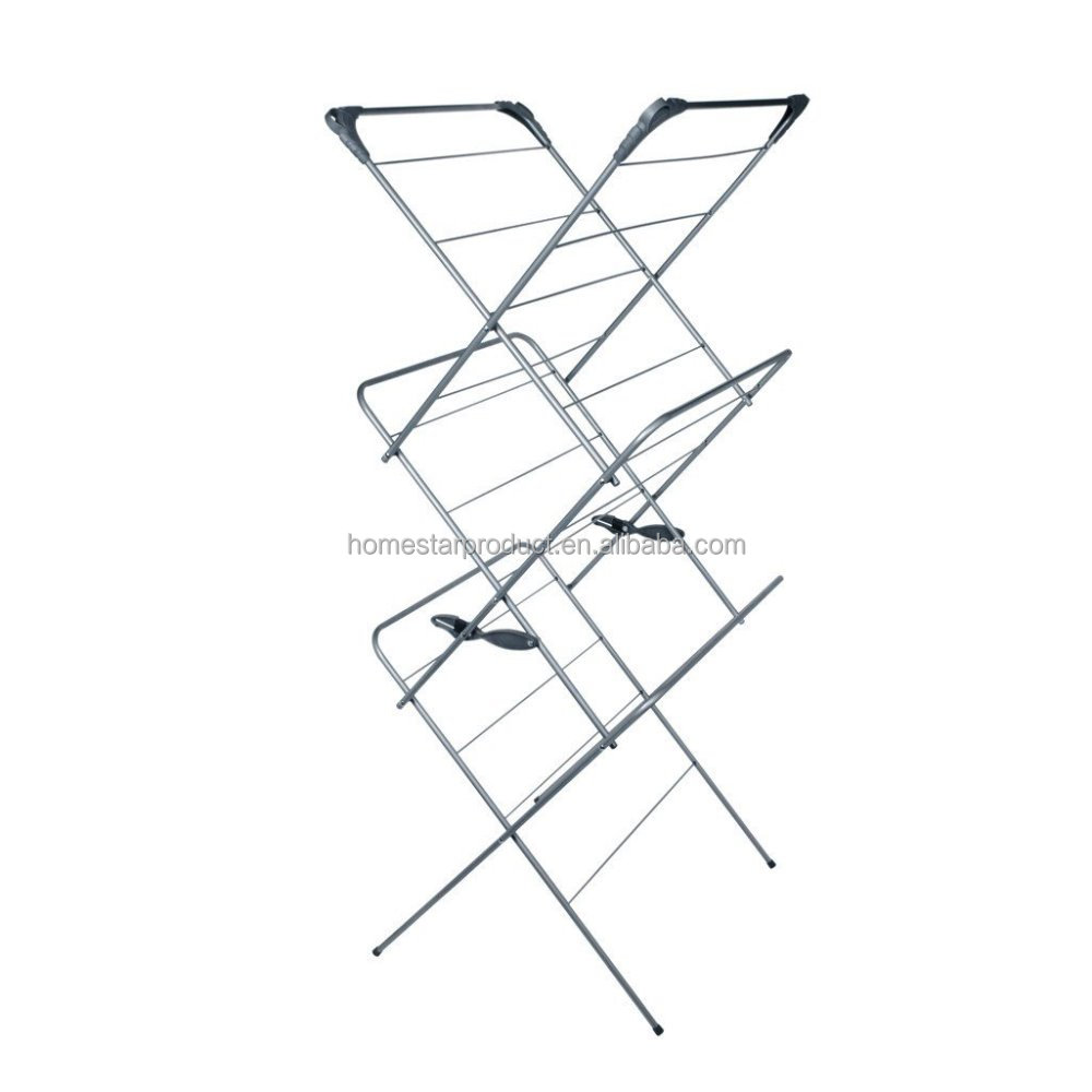 High Capacity 3 Tier Foldable Clothes Drying Rack