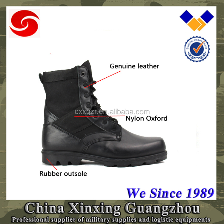 2015 China Cheap Black Military Boots Fashion Shoes Men