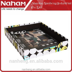 NAHAM high quality Dots Desktop home Organizer File Tray
