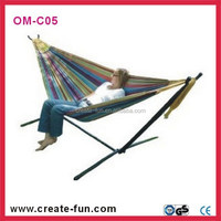 Family backyard master Steel stand OM-C05 long rope hanging hammock